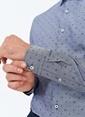 People By Fabrika Desenli Gömlek Lacivert